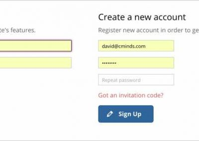 Registration and Login PopUp